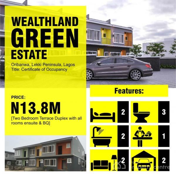 Luxury 2 Bedroom Terraced Duplex  with C of O, Oribanwa, Ibeju Lekki, Lagos, Terraced Duplex for Sale
