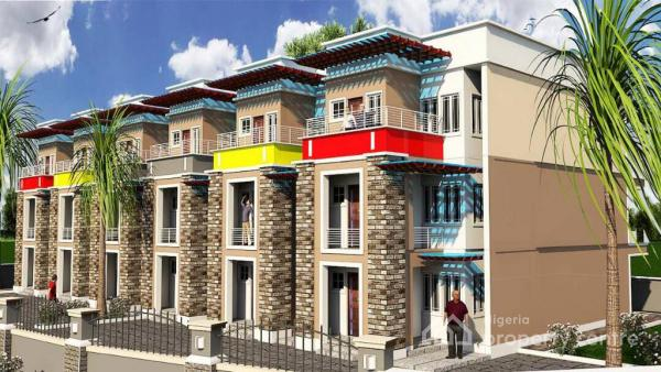 4 Bedroom Terrace, Close to Family Worship Centre, Wuye, Abuja, Terraced Duplex for Sale