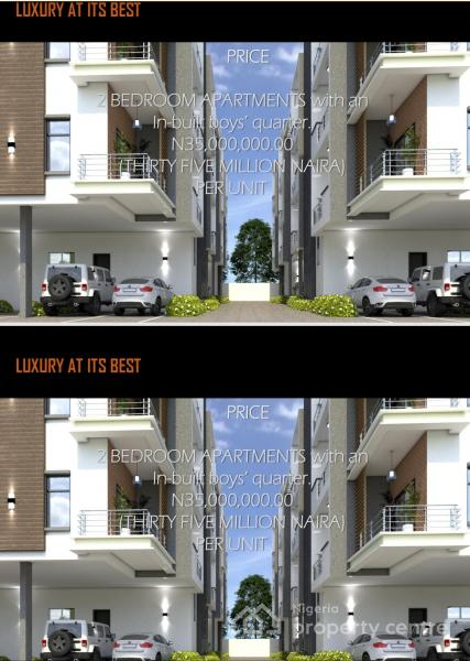 Off Plan Project :  Standard Fully Serviced 2 Bedroom Flat with a Bq, Ikate Elegushi, Lekki, Lagos, Block of Flats for Sale
