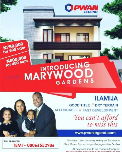 Marywood Gardens, Ilamija, Eleranigbe, Ibeju Lekki, Lagos, Mixed-use Land for Sale