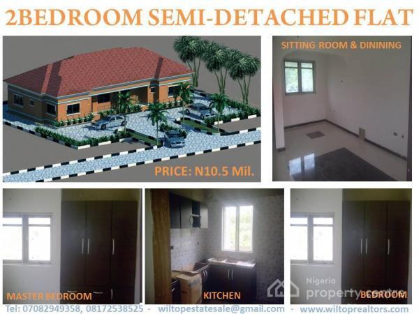 2 Bedroom Semi Detached Bungalow, Omitoro, Off Ijede Road, Ikorodu, Lagos, Semi-detached Bungalow for Sale