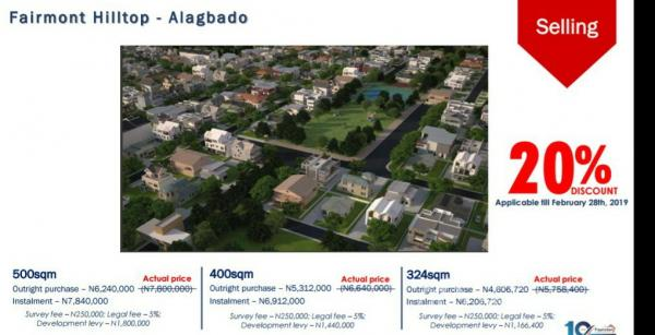 The Fairmont Hilltop, Alagbado Road, By Ait, Ijaiye, Lagos, Residential Land for Sale