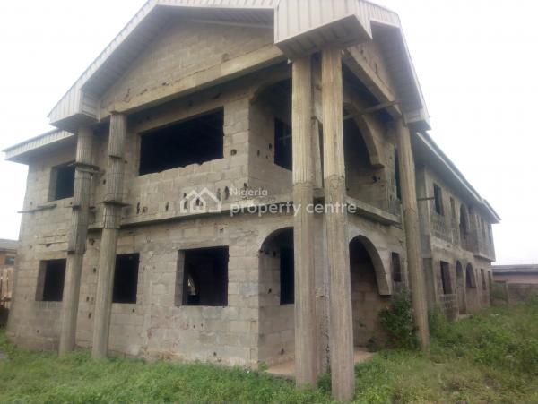 Uncompleted Duplex with Two Numbers of Three Bedroom Flat, Ijegun, Ikotun, Lagos, Block of Flats for Sale