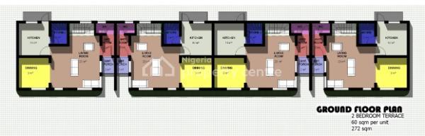 2 Bedroom Terrace Duplex, Cadastral Zone, Fo1, Kubwa, Abuja, Terraced Duplex for Sale
