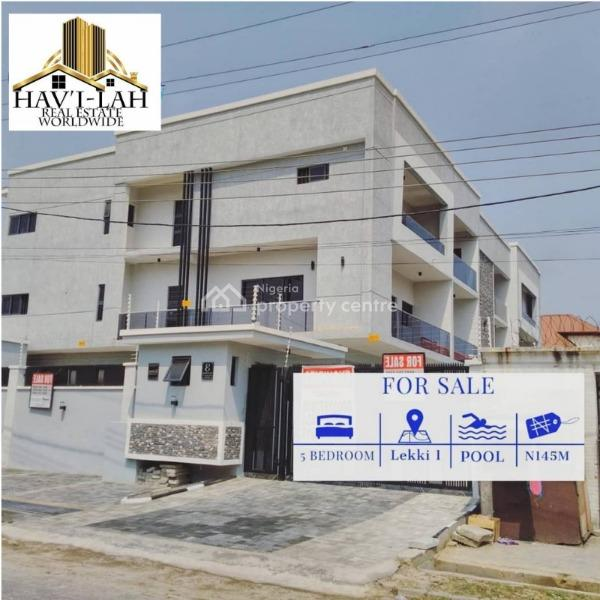 5 Bedroom Terrace Duplex with Bq, Lekki Phase 1, Lekki, Lagos, Terraced Bungalow for Sale