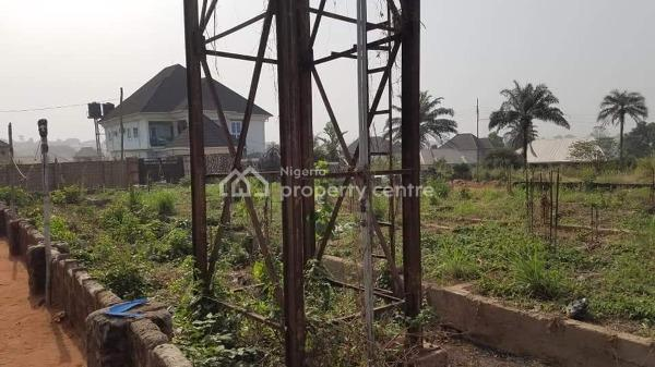 100 By 100 Plot of Land with Foundation for Duplex and Functional Borehole., Okpanam Bypass, Asaba, Delta, Mixed-use Land for Sale