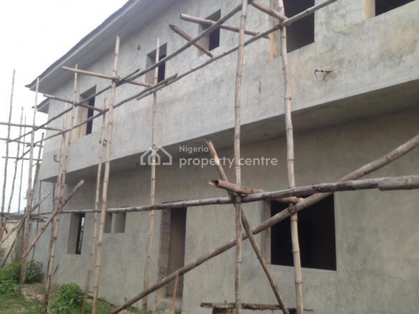 Gov Consent 5 Bedroom Duplex Carcass with Bq Within an Estate, Before Sangotedo Shoprite, Sangotedo, Ajah, Lagos, Detached Duplex for Sale