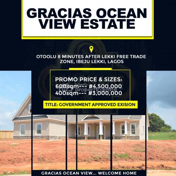 a Plot of Land, Otoolu, 8 Mins After Lekki Free Trade Zone, Ibeju Lekki, Lagos, Land for Sale