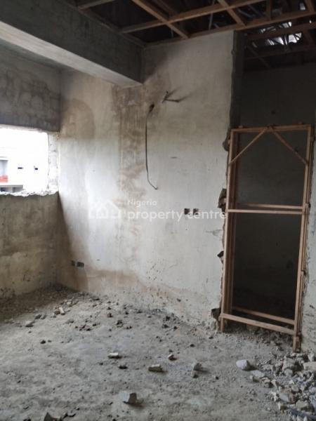 Carcass 4 Bedroom Semidetached Duplex @ Diamond Estate - Sangotedo, Beside Novare Mall (shoprite), Sangotedo, Ajah, Lagos, Semi-detached Duplex for Sale