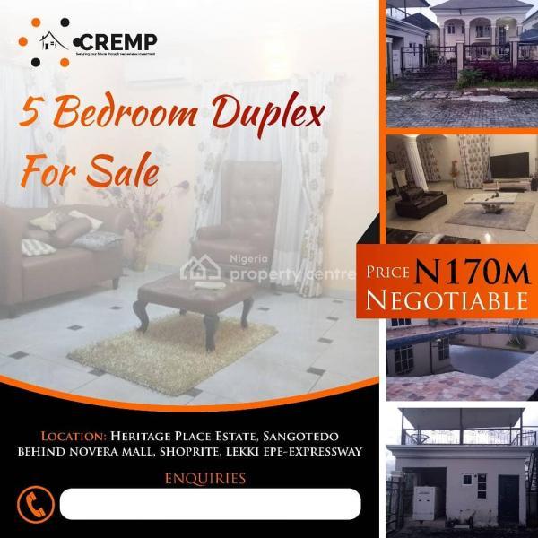 5 Bedroom Duplex, Sangotedo, Ajah, Lagos, Detached Duplex for Sale