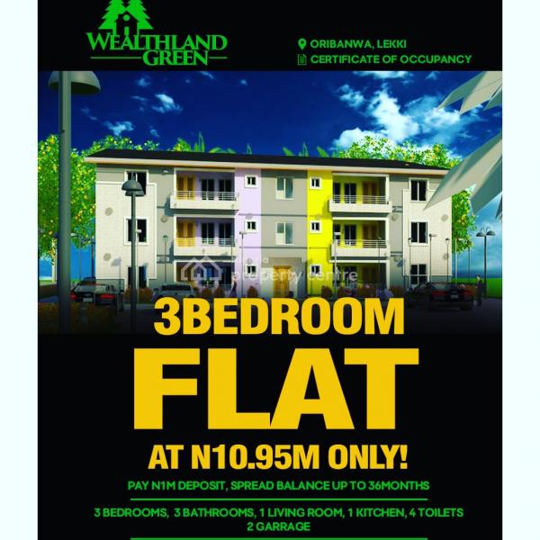 Luxury 3 Bedroom Flat with Bq and Guest Toilet, Lekki, Lagos, Block of Flats for Sale