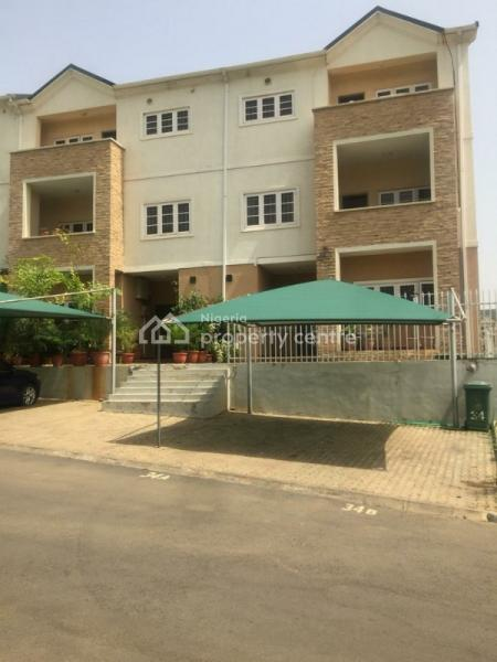 Super Luxury 4 Bedroom Serviced Terrace Duplex with a Bq,pool,lush Green Areas,ideally for Expatriates, Vips, in an Estate, Wuye, Abuja, House for Rent