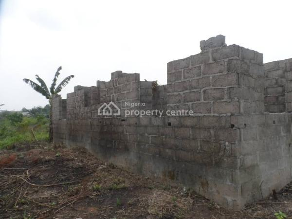 a Full Plot of Land with Uncompleted 2 Nos of 2 Bedroom Flat to Lintel Level, Ogijo, Odogunyan, Ikorodu, Lagos, Detached Bungalow for Sale
