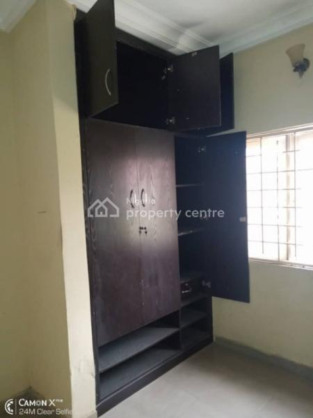 a Room Sharing with Wardrobe, Interlocking Compound, Pop Ceiling  Location: Adewale Bus Stop Badore Road Ajah, Adewale Bustop, Along Badore Road., Ajah, Lagos, House for Rent