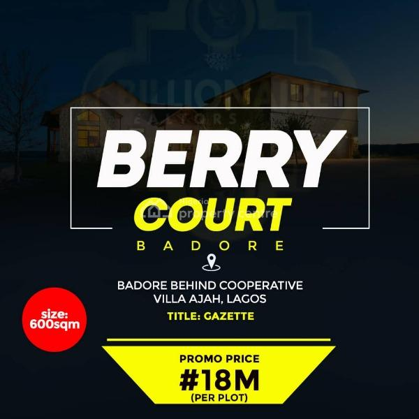 Berry Court Residential Estate Land, Badore, Ajah, Lagos, Mixed-use Land for Sale