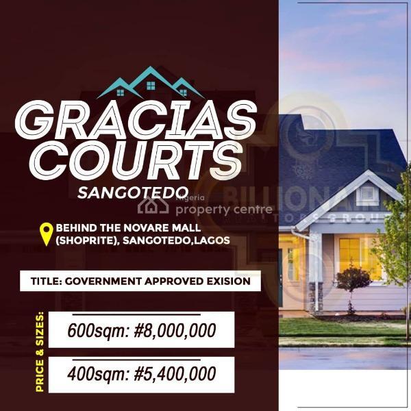 Gracias Estate Residential Land, Monastry Road, Sangotedo, Ajah, Lagos, Residential Land for Sale