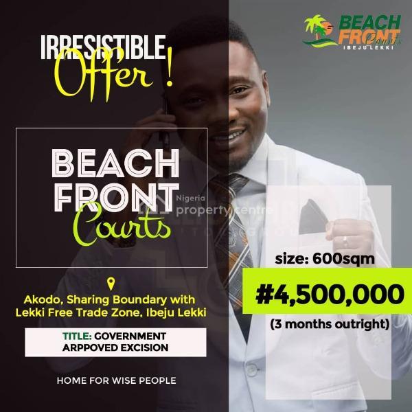 Beach Front Courts Estate, Lekki Sea Port Road, Eleko, Ibeju Lekki, Lagos, Residential Land for Sale