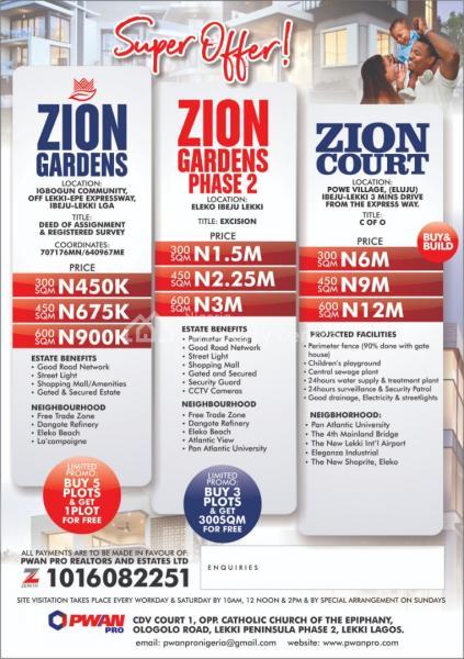 Zion Gardens, Igbogun Road, Ikegun, Ibeju Lekki, Lagos, Residential Land for Sale