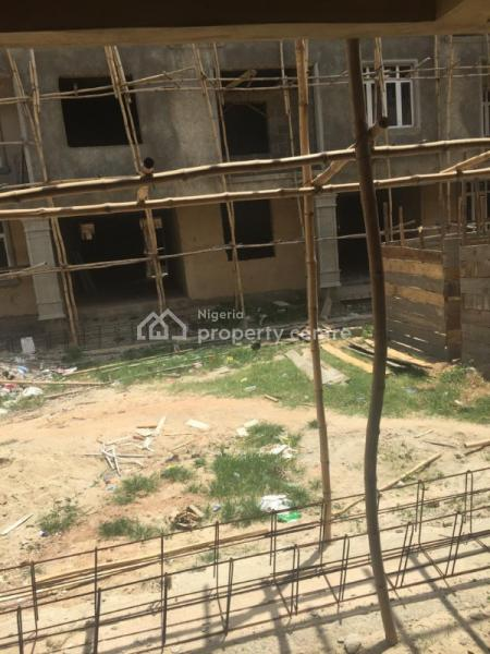 a Carcass 4 Bedroom Terrace Duplex Attached with 5 Bedroom Duplex + a Room Bq, Behind Stadium, Barracks, Surulere, Lagos, Terraced Duplex for Sale