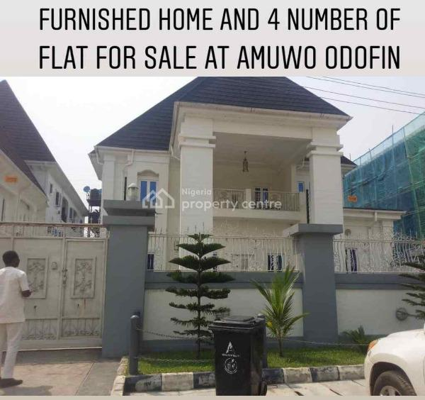 Brand New Furnished 6 Bedroom Fully Detached Duplex with 2 Rooms Bq and Another 4 Numbers of 3 Bedroom Flats, Gra, Amuwo Odofin, Isolo, Lagos, Block of Flats for Sale
