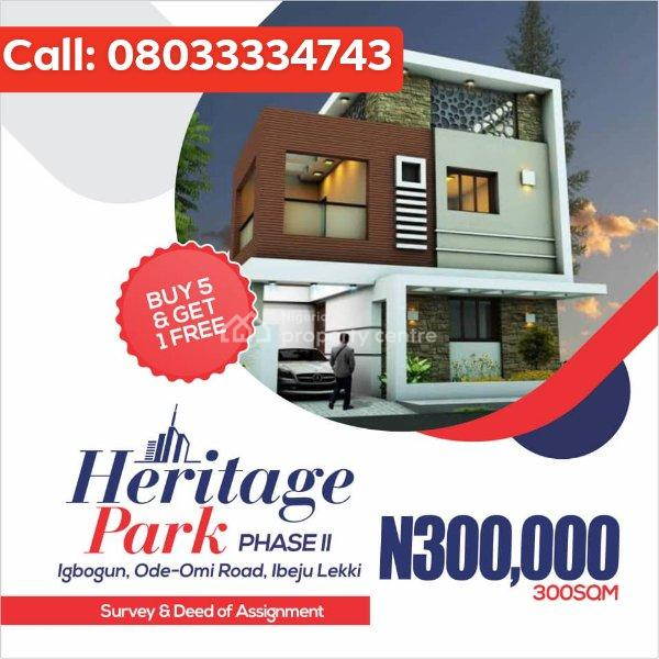 100% Dry Lands for Sale in Ibeju-lekki Starting From 300k., 30 Minutes Drive From La Campaigne Tropicana Beach Resort, Folu Ise, Ibeju Lekki, Lagos, Mixed-use Land for Sale