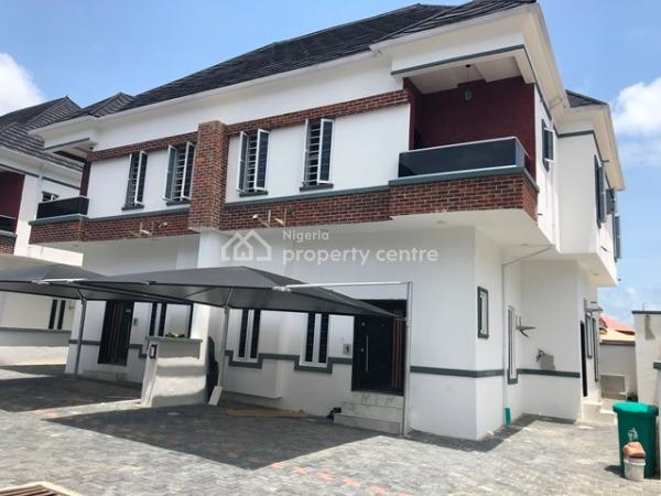 Prime Location So Beautiful Carefully Finished 4 Bedroom Semi Detached with Bq in a Gated Estate.., Osapa, Lekki, Lagos, Semi-detached Duplex for Sale
