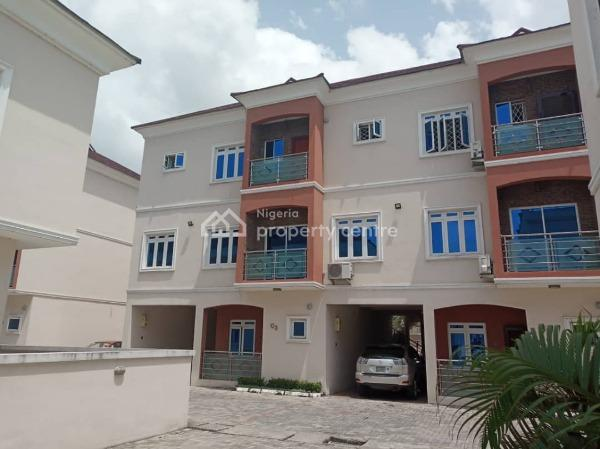 Tastefully Built 4 Bedroom Town House  with Pool & Gym, Agungi, Lekki, Lagos, Terraced Duplex for Rent