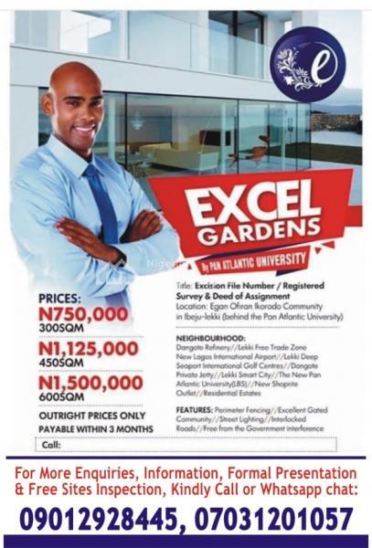 Excel Gardens 1, Egan Ofiran Community, Eleranigbe, Ibeju Lekki, Lagos, Mixed-use Land for Sale
