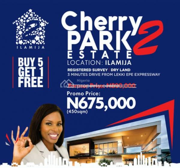Land, Cherry Park Estate, Ilamija Village, Close to The Island New International Airport, Off Lekki Epe Expressway, Ibeju Lekki, Lagos, Mixed-use Land for Sale