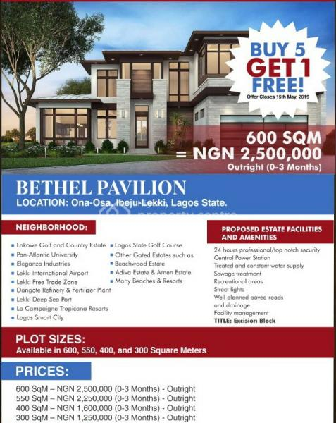 Land with Government Excision, Onosa, Ibeju Lekki, Lagos, Mixed-use Land for Sale