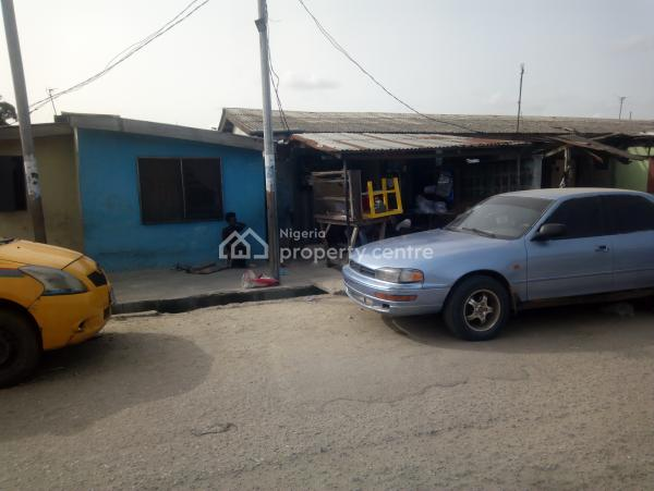 Well Sited Corner Piece Bungalow, Bank Olemoh, Ogunlana, Surulere, Lagos, Semi-detached Bungalow for Sale