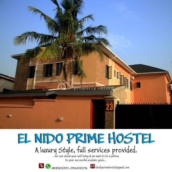 a Luxury Style Fully Serviced Hostel By Unilag Second Gate, 23, Akintunde Street, By Unilag Second Gate, Onike, Yaba, Lagos, House for Rent