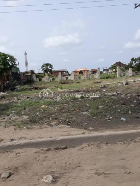 4 Plots of Bare Land Fenced Directly Facing The Expressway with Large Setback, By Abijo Bus Stop, Abijo, Lekki, Lagos, Commercial Land for Rent