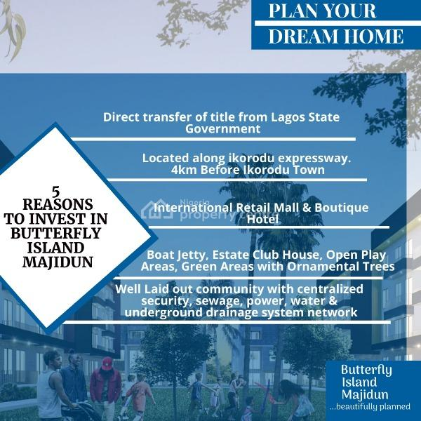 600sqm Serviced Plots of Land with C of O, Butterfly Island Estate, Majidun (lamata Bus Terminal), Agric, Ikorodu, Lagos, Mixed-use Land for Sale