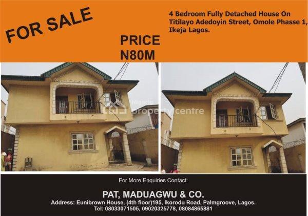 For Sale: Fully Detached House , Omole Phase 1, Ikeja, Lagos