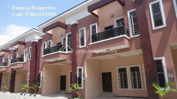 Lovely Spacious 4 Bedroom Serviced Terrace Now 40million, Chevron, Lekki, Lagos, Terraced Duplex for Sale