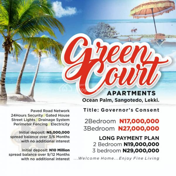 Green Courts Apartments, Ocean Palm Estate, Sangotedo, Ajah, Lagos, Block of Flats for Sale