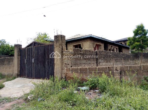 Distress Uncompleted Modern Twin Flats Bungalow, Near Obat Tower, Adegbayi Off Ife Expressroad, Alakia, Ibadan, Oyo, Detached Bungalow for Sale