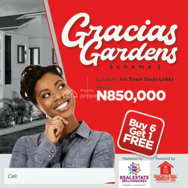 Gracias Estate , Ibeju Lekki, 6minutes Drive From Lacampagne Tropicana, Folu Ise, Ibeju Lekki, Lagos, Land for Sale