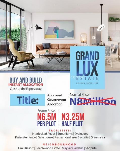 Grand Lux Estate, Bule Pan, Sapati, Eleko, Ibeju Lekki, Lagos, Residential Land for Sale