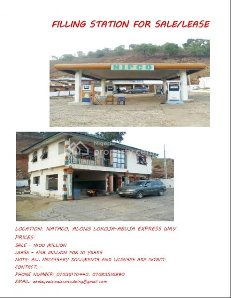Filling Station, Nataco Along Abuja/lokoja Express Way,, Lokoja, Kogi, Filling Station for Sale