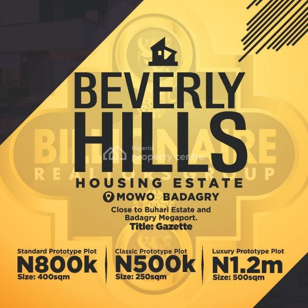 Land for Sale in Badagry,belvery Hills, Badagry, Lagos, Land for Sale