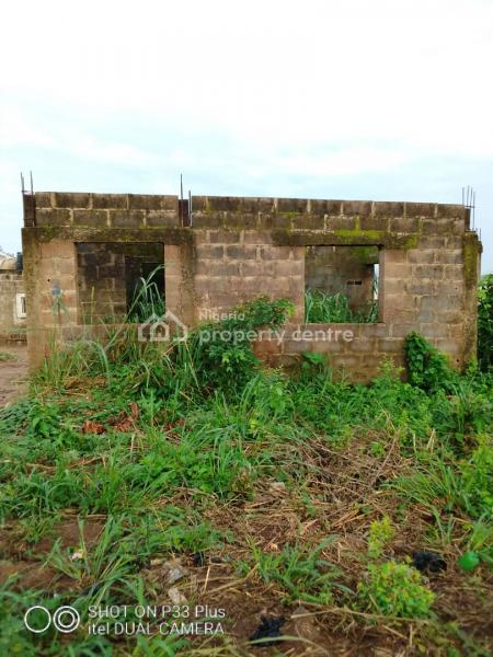 Uncompleted Structures, 2 Bedroom and Mini Flat Sitting on a Full Plot of Land, Oduduwa Street, Abule Lemode, Agbado, Ifo, Ogun, Residential Land for Sale