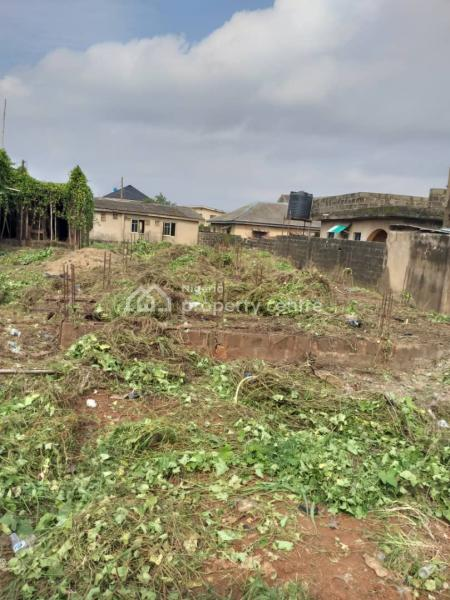 Bare Land with Foundation on a Major Road in Ayobo, Ipaja (close to Anchor University), Alaja Road, Off Ayobo Road, By Anchor University, Ayobo, Ipaja, Lagos, Residential Land for Sale