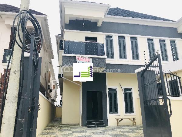 Newly Built Four Bedroom Semi Detached House with 24 Hours Pre Paid Power, Lafiaji, Lekki, Lagos, Semi-detached Duplex for Sale