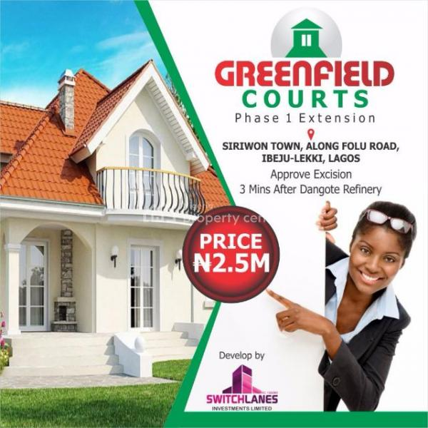Greenfield Estate (600sqm): 100% Dry Land, 3, Minutes Drive After Dangote Refinery and Before La Campaigne Tropicana, Ogogoro, Ibeju Lekki, Lagos, Mixed-use Land for Sale