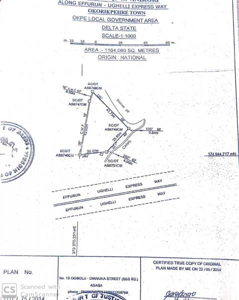 Massive Land Size, Along Okuokoko Express Road, Very Close to ( Fupre), Okpe, Delta, Commercial Land for Sale