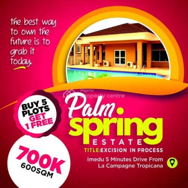 Palm Spring Estate, Ibeju Lekki., 5 Mins Drive From La Champagne Tropicana, Ibeju Lekki, Lagos, Mixed-use Land for Sale