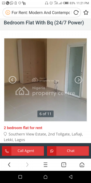Fully Serviced 2 Bedroom Flat in a Mini Gated  Estate, Chevron Conservation Road, Lafiaji, Lekki, Lagos, Flat for Rent