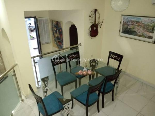 Fully Furnished & Serviced 4 Bedroom Terrace House with 2 Room Bq, Adeniyi Jones, Ikeja, Lagos, Terraced Duplex Short Let